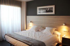 Habitació doble a l'hotel can puig de solsona